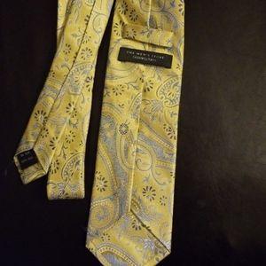 Bloomingdales yellow tie.